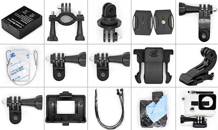 firefly-6s-accessori Recensione Firefly 6S, action cam 4k con stabilizzatore Gyro