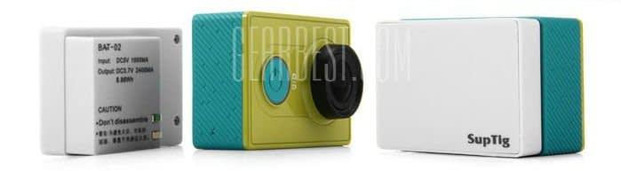 Battery_Pack_Xiaomi_Yi_2 Battery Pack da 2400mAh per Xiaomi Yi + case maggiorato