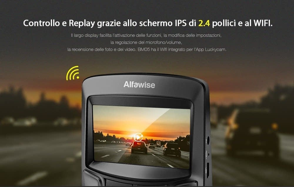 Alfawise-MB05-schermo Recensione Alfawise MB05 dashcam