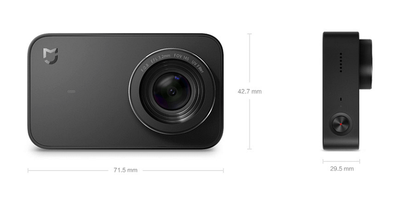 Xiaomi_Mijia_dimensioni Recensione Xiaomi Mijia action cam 4k touchscreen