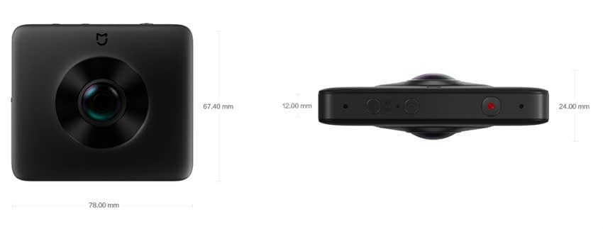Xiaomi_Mijia_dimensioni Recensione Xiaomi Mijia 3.5K - Actioncam 360° con due lenti