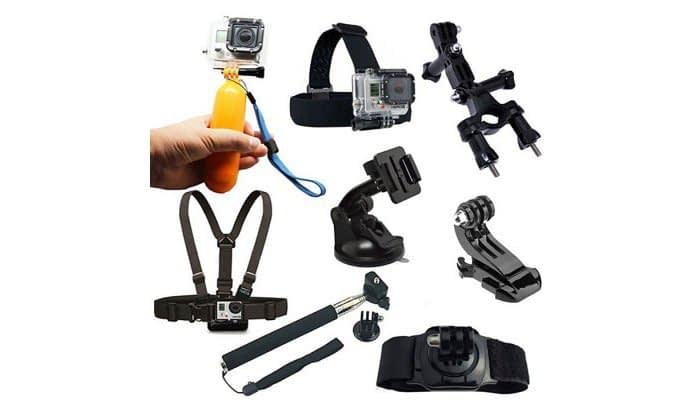 Accessory-kit-action-cam Kit di 8 accessori per action cam