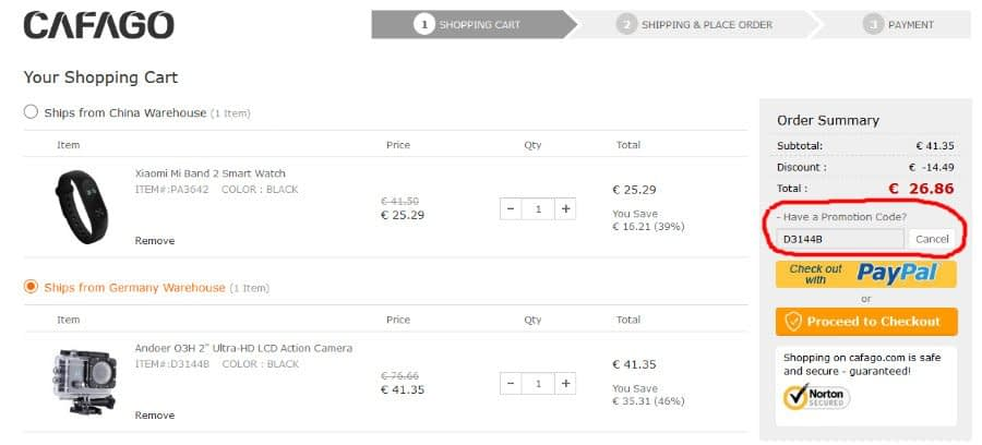 Coupon-Andoer-Q3H-R Coupon per Mi band a 15€ e altri sconti da Cafago