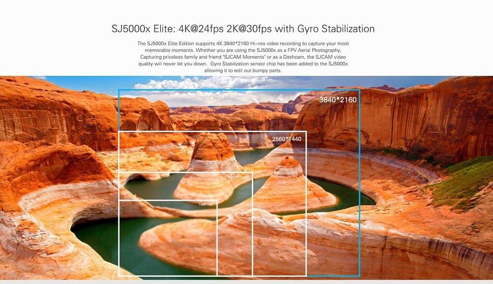 SJCAM-SJ5000x-Elite-Info-sulla-risoluzione-1024x591-1024x591 SJ5000X Elite - Recensione Sjcam 4k con stabilizzatore Gyro