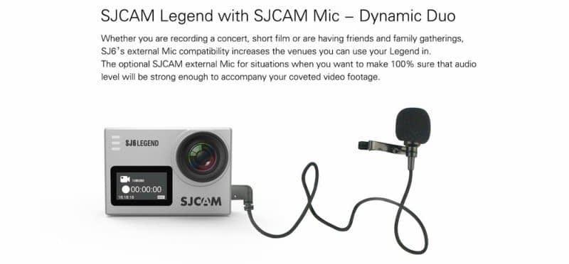 SJ6_Legend_Microfono Recensione SJ6 Legend