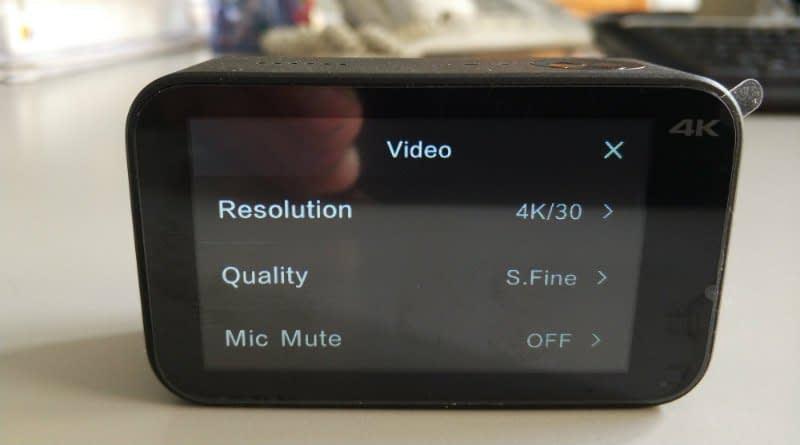 Xiaomi_Mijia_recensione_menu2 Recensione Xiaomi Mijia action cam 4k touchscreen