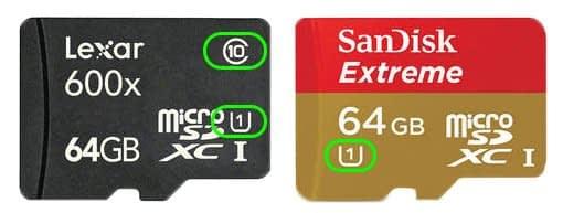 Scheda-sd-gopro-hero-4 Micro SD per Gopro Hero 3+ e Hero 4 black