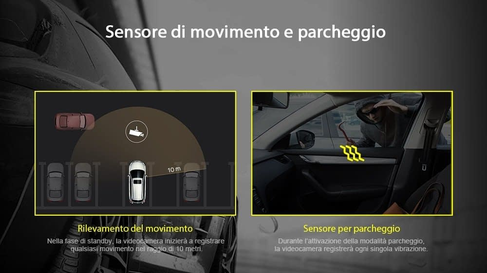 Alfawise-MB05-sensore-parcheggio Recensione Alfawise MB05 dashcam