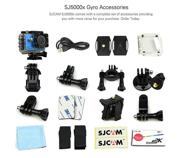 SJ5000X-accessories2 SJ5000X Elite - Recensione Sjcam 4k con stabilizzatore Gyro