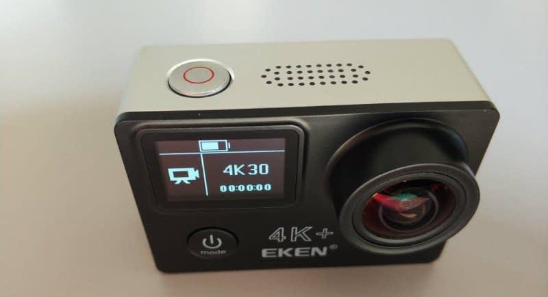 recensione-Eken-H6s-fronte Recensione Eken H6s action cam 4k economica con stabilizzatore e telecomando