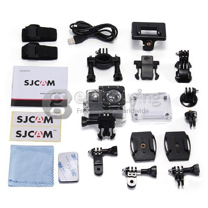 sj4000plus_accessories SJ4000 plus: recensione action cam 2k