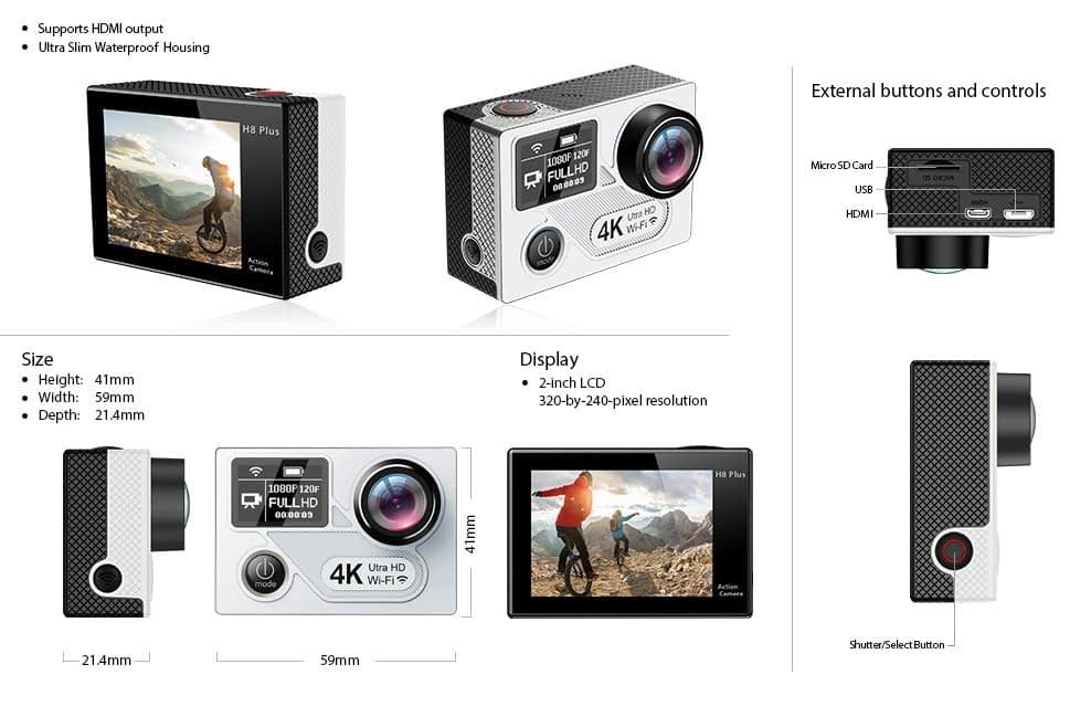 H8-Plus-caratteristiche Recensione Eken H8 Pro e Plus