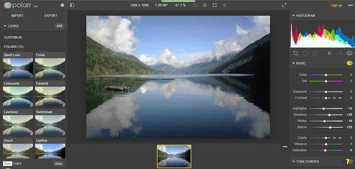 Polarr-1024x490 Polarr 2.0 editor gratuito online per RAW alternativo a Lightroom
