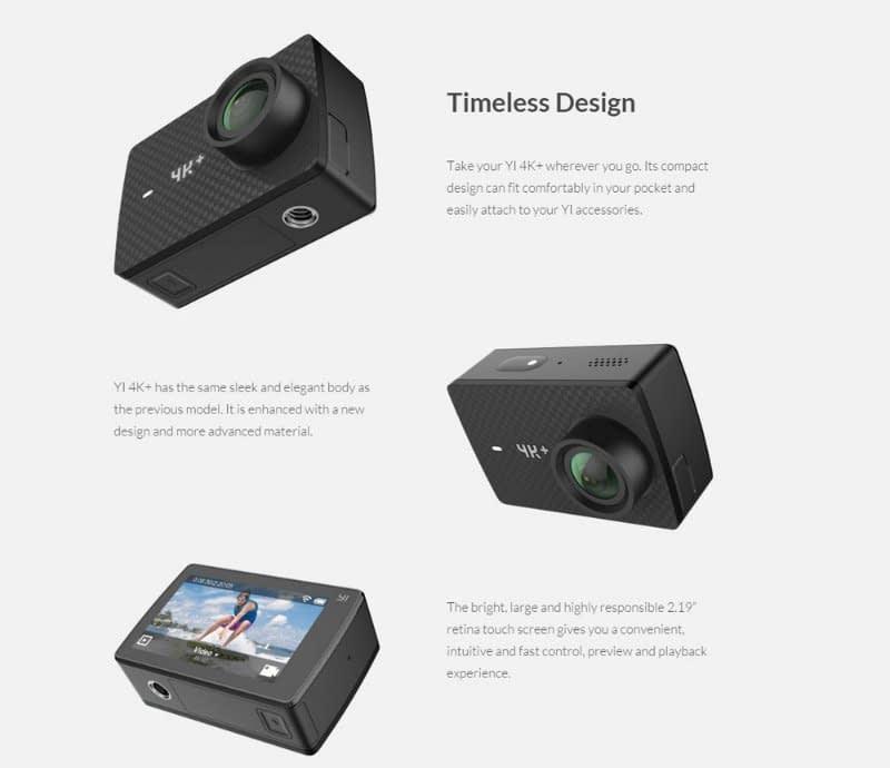 yi-4k-plus-design Recensione Yi 4K PLUS: action cam 4K+@60fps