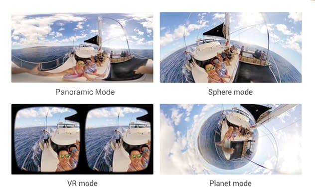 Andoer-a360i-modalita Recensione Andoer A360i - videocamera a 360° con 2 lenti