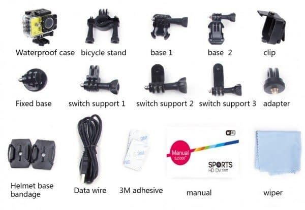 SJ5000 Sports Camera Plus_accessori