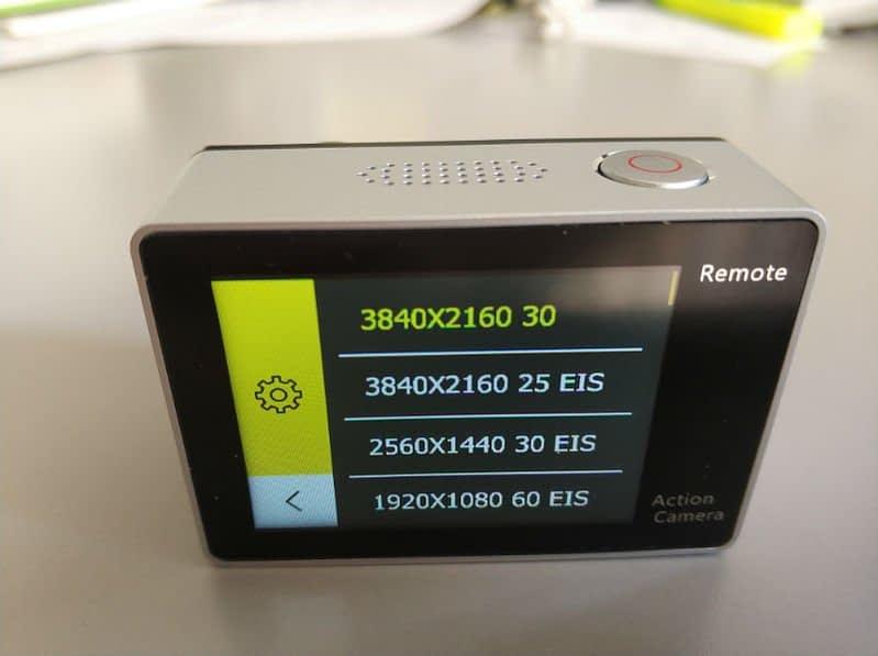 recensione-Eken-H6s-menu3 Recensione Eken H6s action cam 4k economica con stabilizzatore e telecomando