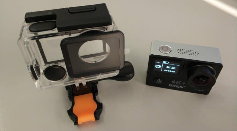 recensione-Eken-H6s-custodia Recensione Eken H6s action cam 4k economica con stabilizzatore e telecomando