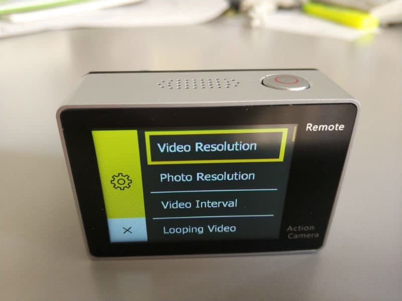 recensione-Eken-H6s-menu2 Recensione Eken H6s action cam 4k economica con stabilizzatore e telecomando